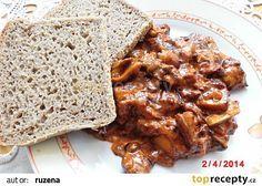 Houby po maďarsku recept - TopRecepty.cz Chicken Wings, Pork, Food And Drink, Beef, Cooking, Kale Stir Fry, Meat, Kitchen, Pork Chops