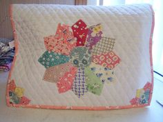 Sewing Machine Cover Dresden Plate Quilt Block Repro Fabric Quilted