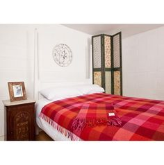 Avoca Throw, Red Throw, Wool Blanket, Check Throw, Irish Blanket - Avoca.com