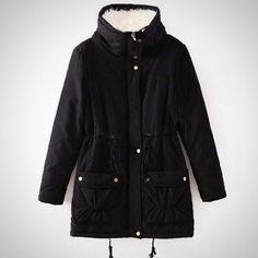 Women's Fashion Winter Coat Warm Medium-Long Parka Jacket