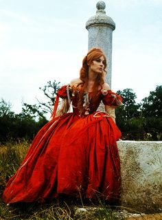 "Beautiful redhead Sharon Tate as Sarah, inte the excellent movie ""The Fearless vampire Killers""."