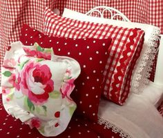American Girl 18 inch Doll Bedding-Lace door RibbonwoodCottage