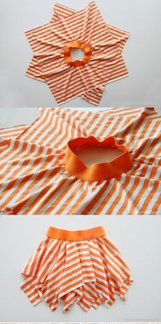 Cute and easy DIY skirt. Would be cute with a fabric bottom layer and tulle top layer