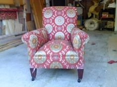 Never underestimate the skill of upholstery!!! This chair was rescued from a skip!!!!!