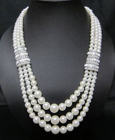 Bridal Ivory Necklace Weddings pearl necklace by ShopluvmeJewelry, $43.00