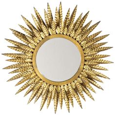 French Electrified Sunburst Mirror | From a unique collection of antique and modern sunburst mirrors at http://www.1stdibs.com/furniture/mirrors/sunburst-mirrors/