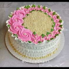 Birthday cake flower pictures 54 Ideas for 2019 Biscuit Cupcakes, Cake Mix Cookies, Cupcake Cakes, Buttercream Designs, Buttercream Cake, Cake Decorating Videos, Cake Decorating Techniques, White Chocolate Raspberry Cheesecake, Tooth Cake