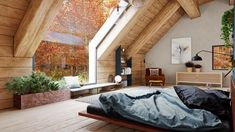 A Cozy Modern Rustic Cabin In The Trees If you love being at one with nature, relish adventure in the great outdoors or simply crave natural beauty in your life then you're going to adore this moder Loft Interiors, Rustic Interiors, Loft Interior Design, Interior And Exterior, Industrial Style Bedroom, Contemporary Cabin, Contemporary Design, Futuristisches Design, Design Ideas