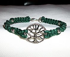 Items similar to Celtic Tree of Life Hemp Bracelet - Hemp Jewelry - Green Hemp and Silver Tree Pendant - Tree Bracelet - Celtic Hemp Bracelet - Tree Jewelry on Etsy Hemp Jewelry, Hemp Bracelets, Unique Jewelry, Jewlery, Handmade Jewelry, Peace Sign Necklace, Tree Of Life Jewelry, Celtic Tree Of Life, Tree Pendant