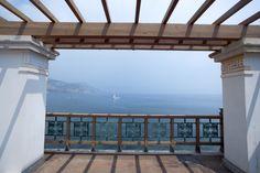 Vue sur la mer depuis la terrasse supérieure © C. Recoura
