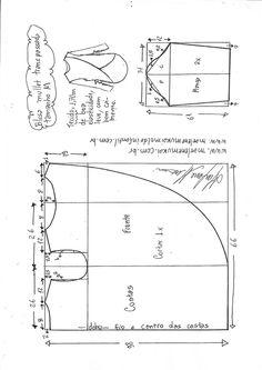 Blusa mullet transpassada para malha | DIY - molde, corte y costura - Marlene Mukai