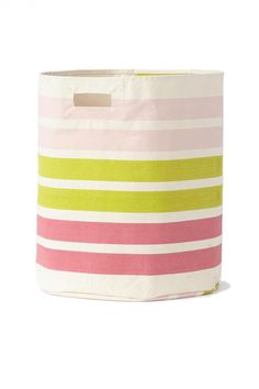 "Our hampers are designed to hold clothes, mitts, boots, trucks, balls, blocks, swim suits, beach gear, and everything in between. At 18""D x 20""H these 100% cotton canvas hampers in vibrant colors and pattern don't have to hide. Perfect in any room!   Large Hamper by Petit Pehr. Home & Gifts - Gifts - Gifts by Occasion - Entertaining & New Home Michigan"