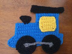 Finished Crochet Train Engine