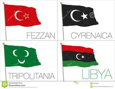 Illustration about Graphic elaboration, illustration libya regions flags. Illustration of italy, flag, islam - 63909230 Coat Of Arms, Flags, Ottoman, Country, Illustration, Rural Area, Family Crest, Illustrations, Country Music