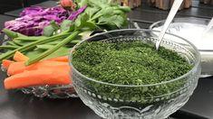 Hjemmelaget urtesalt Cooking 101, Spice Mixes, Diy Food, Pesto, Watermelon, Cabbage, Smoothie, Spices, Food And Drink