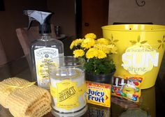 first comes love: Bucket Full o Sunshine gift basket. Perfect for Mother's Day or brightening someone's day!