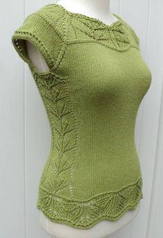 Top manches courtes Ophélie femme - explications tricot chez Makerist