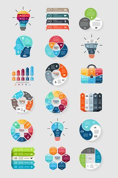 Variety of infographic vector material Graphic Design Tools, Design Blog, Web Design, Chart Design, Infographic Template Powerpoint, Powerpoint Design Templates, Intranet Design, Tableau Design, Instructional Design