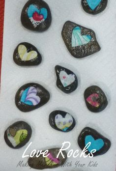 Love Rocks. With a little fabric and stones create this adorable keepsake for loved ones.