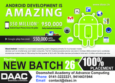 Get  Android training in Jaipur, Join DAAC to become a android developer
