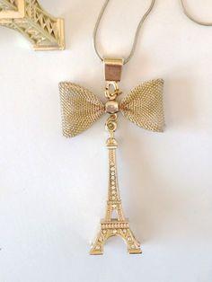 1pc Eiffel Tower Famous Buildings Cabochon Necklace Pandant Long Chain Jewellery