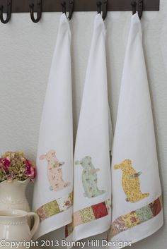 Bunny Towels Free Pattern - @Donna Dowdy- Think you might be able to throw these together?