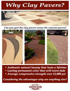 What are pavers for? Why use pavers instead of regular bricks when creating landscape projects?