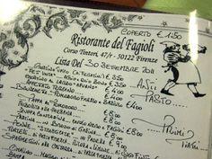 Ristorante del Fagioli in Florence