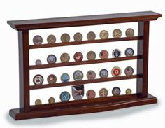 Challenge Coin Display Case-military coin holder army navy air force marines coast guard desk wood