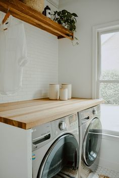 Laundry Nook, Laundry Room Remodel, Laundry Room Design, Laundry Closet, Small Laundry, Laundry Drying, Home Renovation, Home Remodeling, Kitchen Remodeling