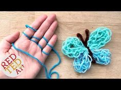 Butterfly Finger Knitting How To - Red Ted Art's Blog