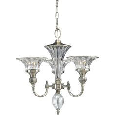 Roxbury Collection Classic Silver 3-light Chandelier