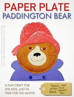 Paper Plate Paddington Bear by Amanda Formaro, Crafts by Amanda #PaddingtonMovie