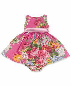 Ralph Lauren Baby Girls' Cotton Sateen Dress