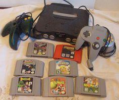 Retro Nintendo 64 N64 Working Console w 2 by suburbantreasure