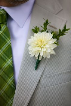 white dahlia boutonniere - Google Search