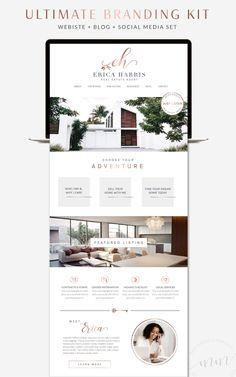 Design Web, Layout Design, Website Design Layout, Wordpress Website Design, Website Design Inspiration, Minimal Web Design, Real Estate Website Templates, Real Estate Website Design, Real Estate Logo Design