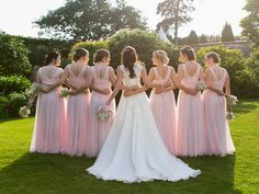Sophie`s review on FHFH bridesmaid dresses:  I can't thank FHFH enough for the most beautiful bridesmaid dresses. We used the custom measurement service so the dresses fitted perfectly, and the colour was exactly as I had imagined (powder pink). We had so many lovely compliments about the dresses - the girls felt like complete princesses. Your customer service has been perfect throughout, I can't recommend you more highly. THANK YOU!  BM dress they chose: http://www.forherandforhim.com/v-ne