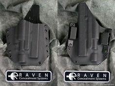 NEW RAVEN CONCEALMENT GLOCK 20 21 SF SUREFIRE X400 LIGHT KYDEX GUN HOLSTER 10 45