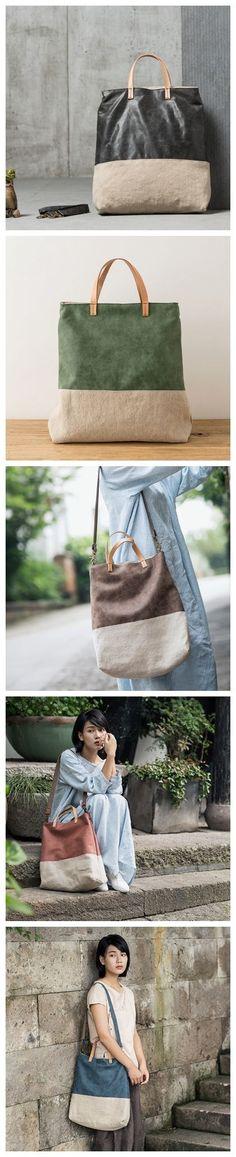 LISABAG--Cotton & Linen Messenger Bag Tote Bag Handbags YY01