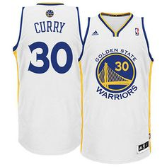 Stephen  Curry  Jersey - Golden State Warriors Home White Swingman Jersey.  Stitched name de14e4f7c