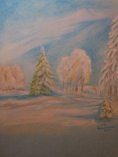 Winter. Soft pastels.