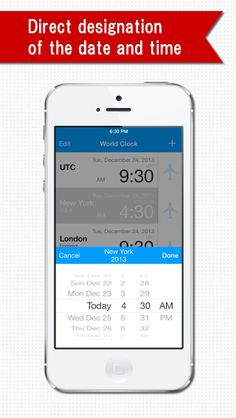 """World Clock"" is an application that displays a list of the times in several cities around the world. If you change the time in one city, the times in the other cities are changed automatically as well."