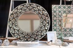 Art Deco inspired mosaic mirror by Nicki Sideris from Mirror Envy. I call it Deco Bloom.