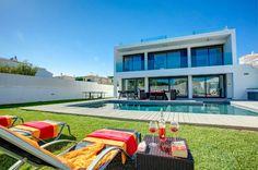 Villa Eve is a beautiful 4 bedroom villa with private pool, wifi, Pool heat, air con. Algarve, Villa With Private Pool, Heated Pool, Portugal, Mansions, House Styles, Outdoor Decor, Beautiful, Eve