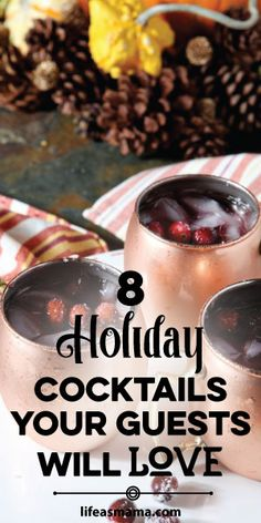 If you are hosting a festive gathering this year, there is nothing like a signature drink to set the mood. These are awesome adult treats for your upcoming party!