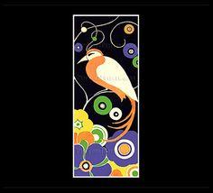 Art Deco Pattern Bird Cross Stitch Pattern by NewYorkNeedleworks, $8.50