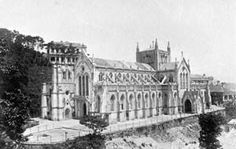Hong Kong Cathedral of Immaculate Conception 聖母無原罪主教座堂 in 1897.Located at	16 Caine Rd,Hong Kong.