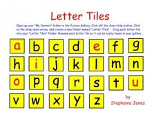 These letter tiles can be used in your SMART Notebook reading lessons! Your students will love using the letter tiles to build words and manipulate sounds on the SMARTboard. Great for phonics lessons! Reading Lessons, Guided Reading, Literacy Activities, Teaching Resources, Abc School, Phonics Lessons, Name Letters, Second Grade, Spelling