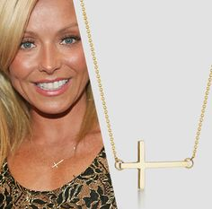 Sideways Cross Necklace Celebrity inspired necklace by froshjewels, $14.00